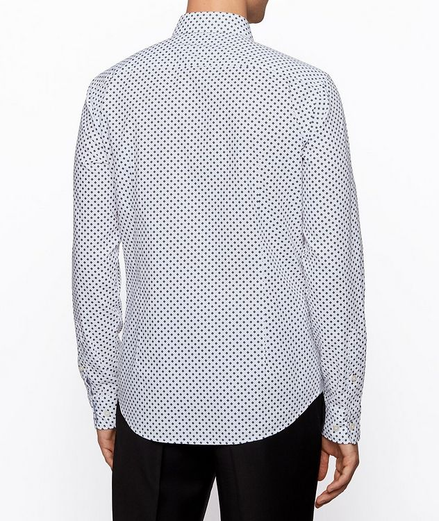 Slim-Fit Printed Cotton Shirt picture 3