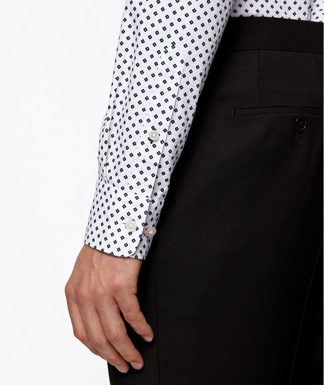 Slim-Fit Printed Cotton Shirt picture 5
