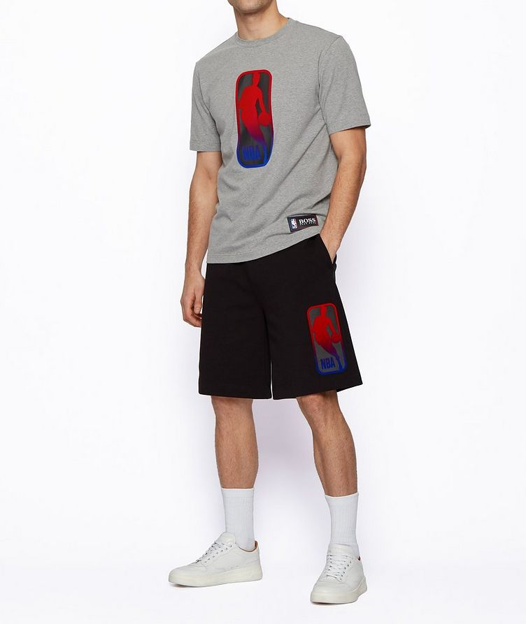BOSS x NBA Printed Stretch-Cotton T-Shirt image 3