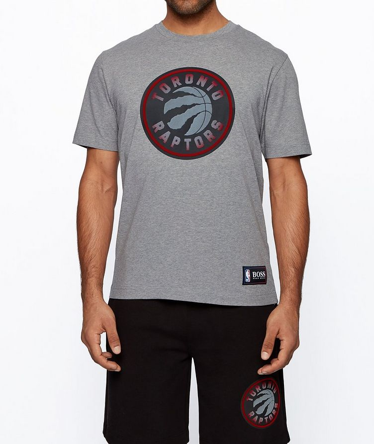 BOSS x NBA Printed Stretch-Cotton T-Shirt image 1