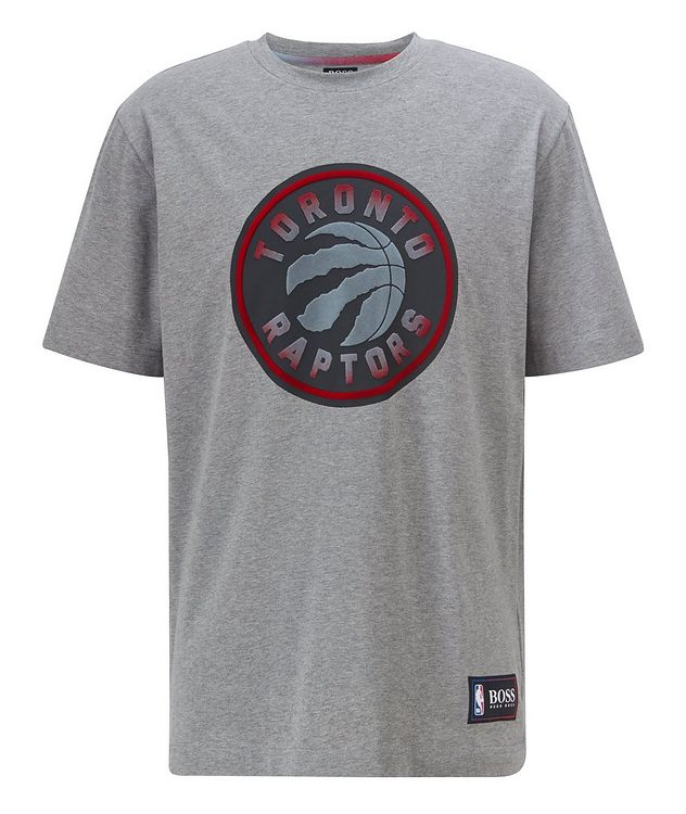 BOSS x NBA Printed Stretch-Cotton T-Shirt picture 1