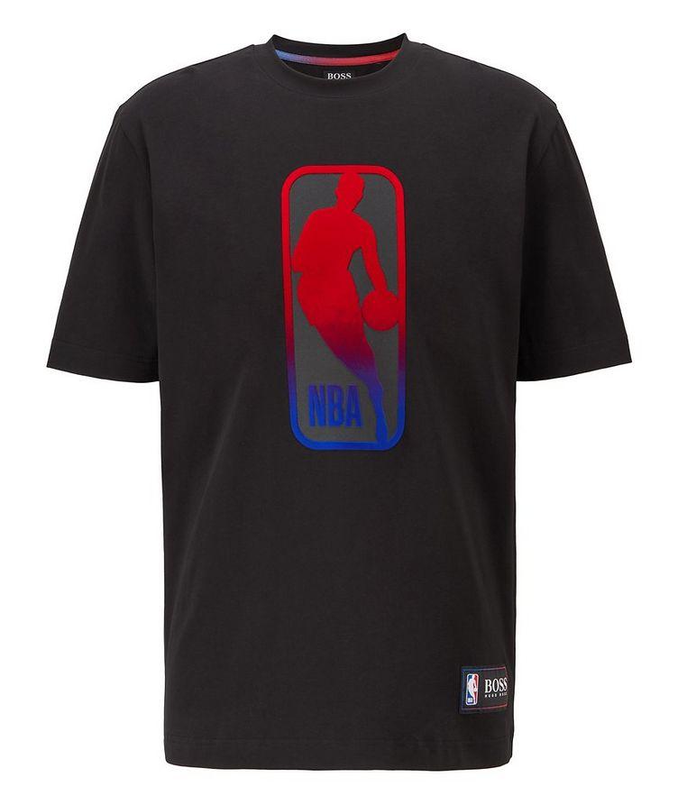 BOSS x NBA Printed Stretch-Cotton T-Shirt image 0