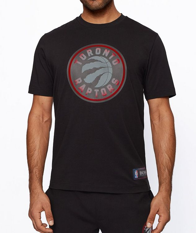 BOSS x NBA Printed Stretch-Cotton T-Shirt picture 2
