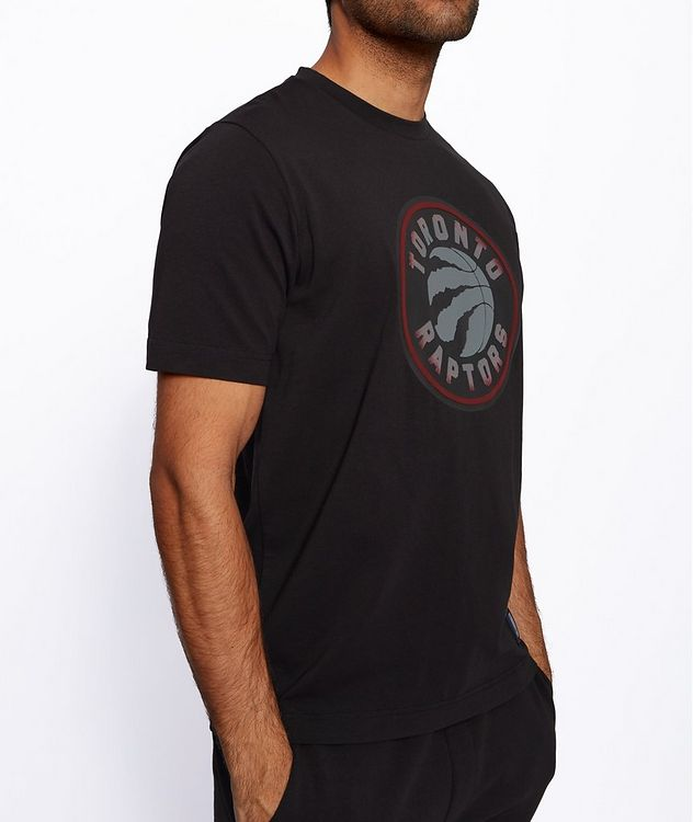 BOSS x NBA Printed Stretch-Cotton T-Shirt picture 5