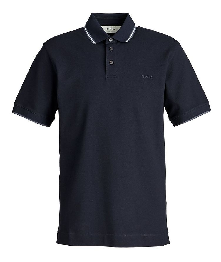 Piqué Stretch-Cotton Polo image 0