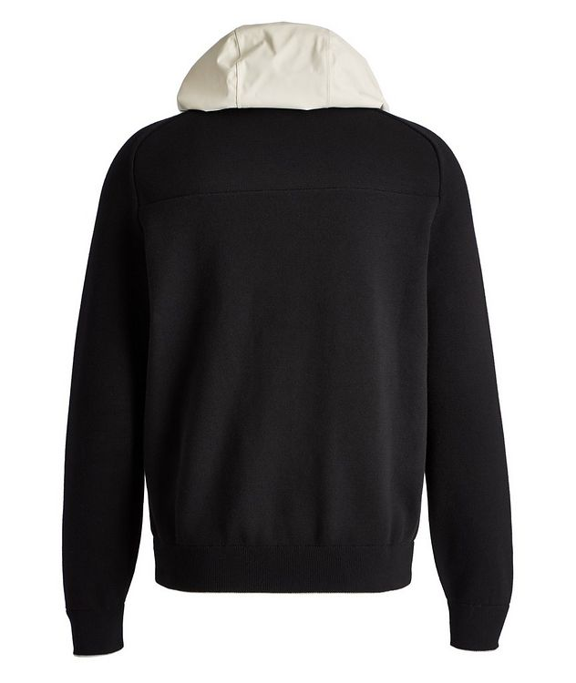 Recycled Cotton-Blend Hybrid Hoodie picture 2