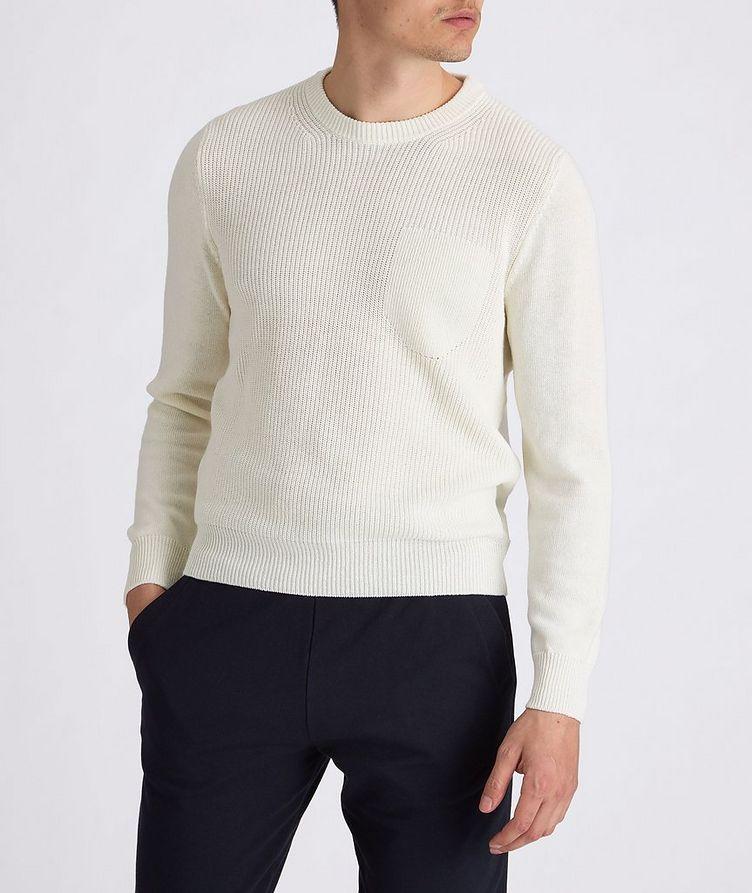 Knit Cotton-Blend Sweater image 1