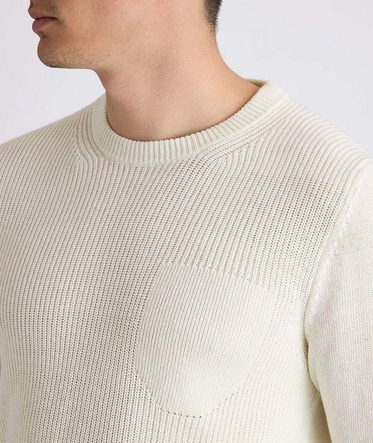 Knit Cotton-Blend Sweater image 3
