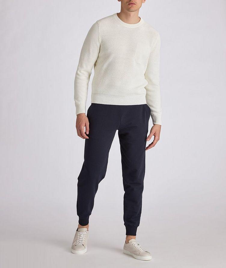 Knit Cotton-Blend Sweater image 4