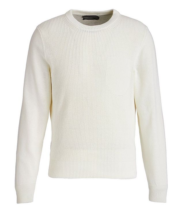 Knit Cotton-Blend Sweater picture 1