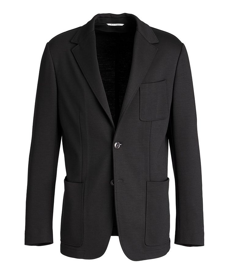 Unstructured Wool-Blend Sports Jacket image 0