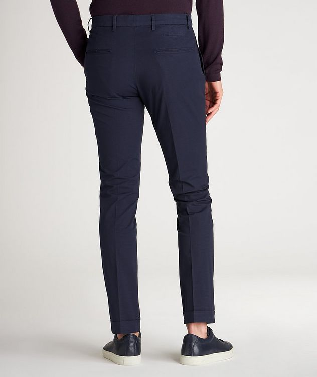 Patterned Slim Fit Stretch-Cotton Pants picture 3