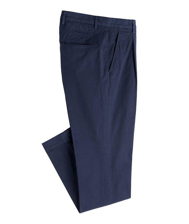 Patterned Slim Fit Stretch-Cotton Pants image 0