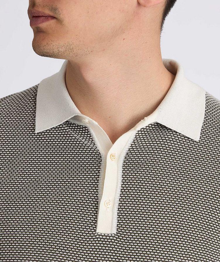 Knit Silk-Blend Polo image 5