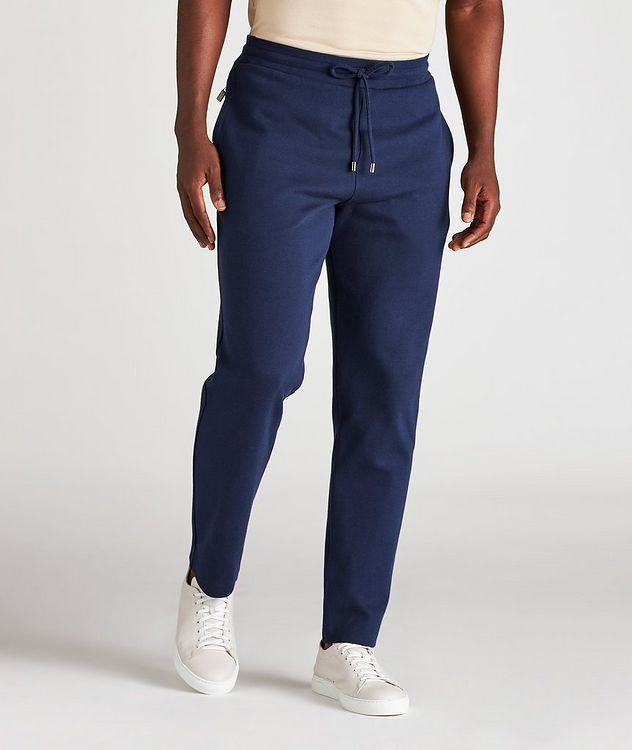 Drawstring Cotton-Blend Track Pants picture 2