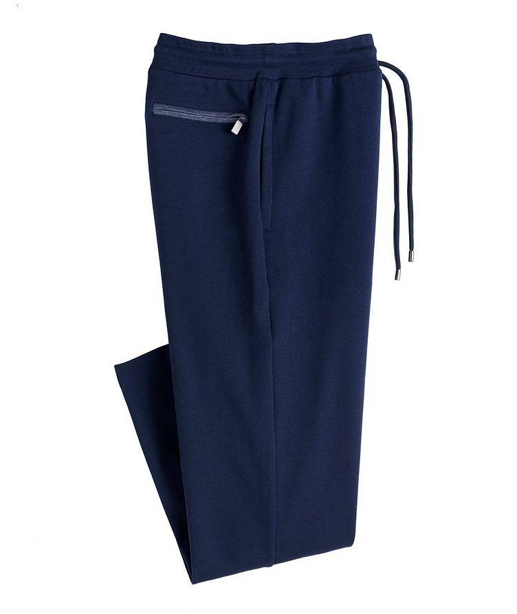Drawstring Cotton-Blend Track Pants image 0