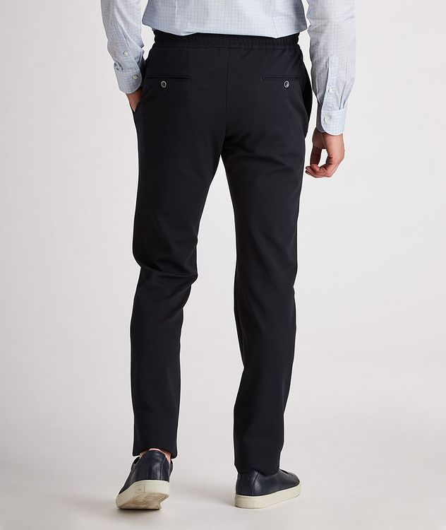 Stretch-Cotton Drawstring Joggers picture 4