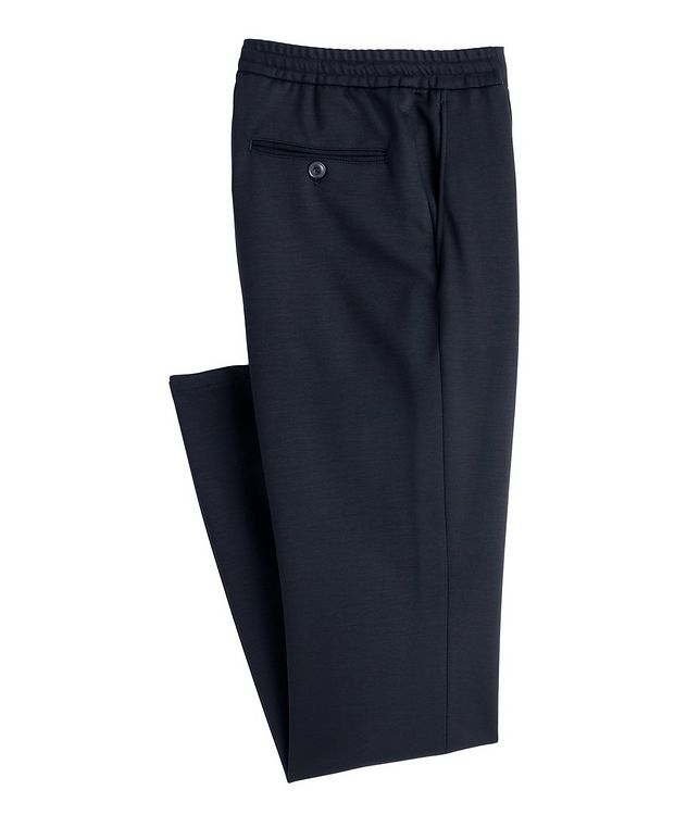 Stretch-Cotton Drawstring Joggers picture 1