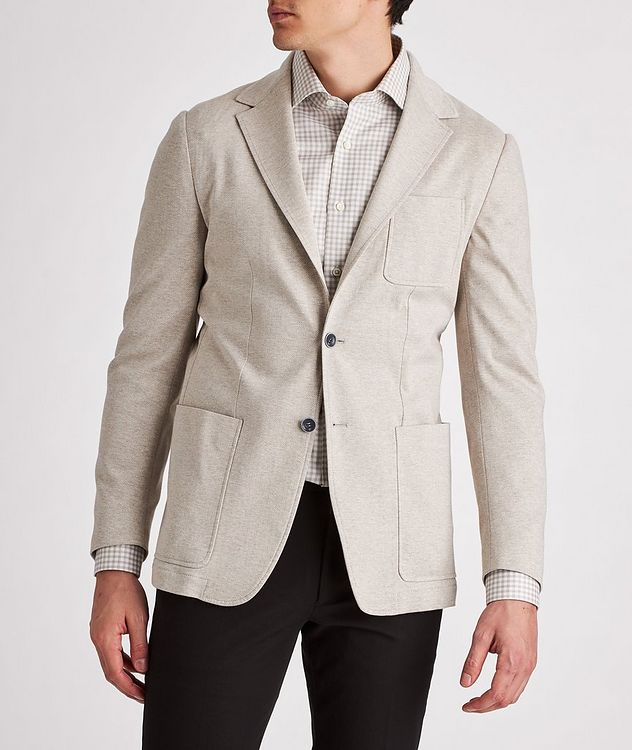 Unstructured Herringbone Cotton Sports Jacket picture 2