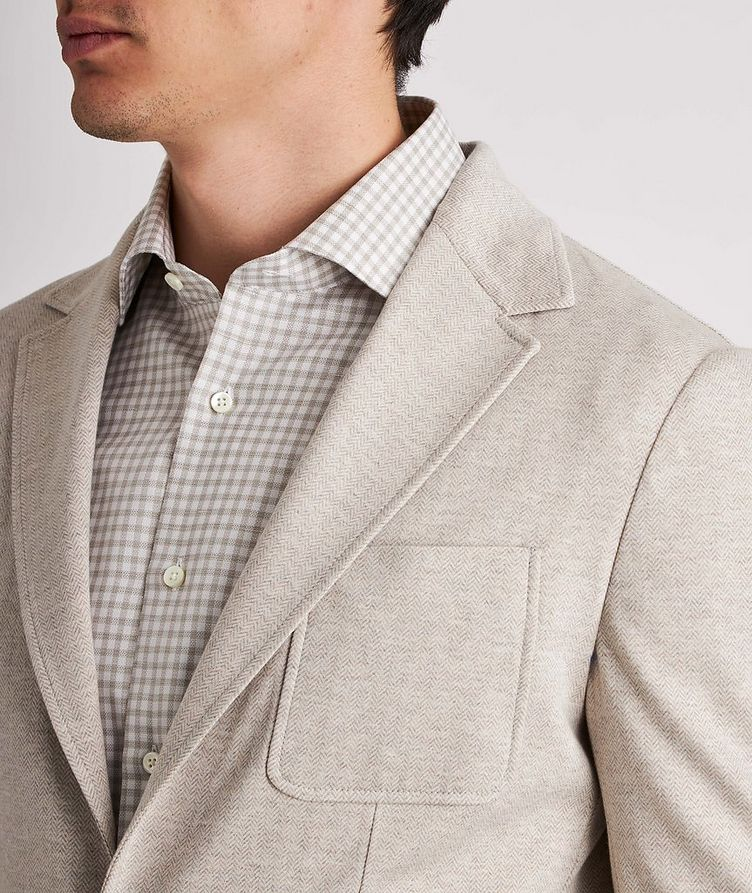 Unstructured Herringbone Cotton Sports Jacket image 3