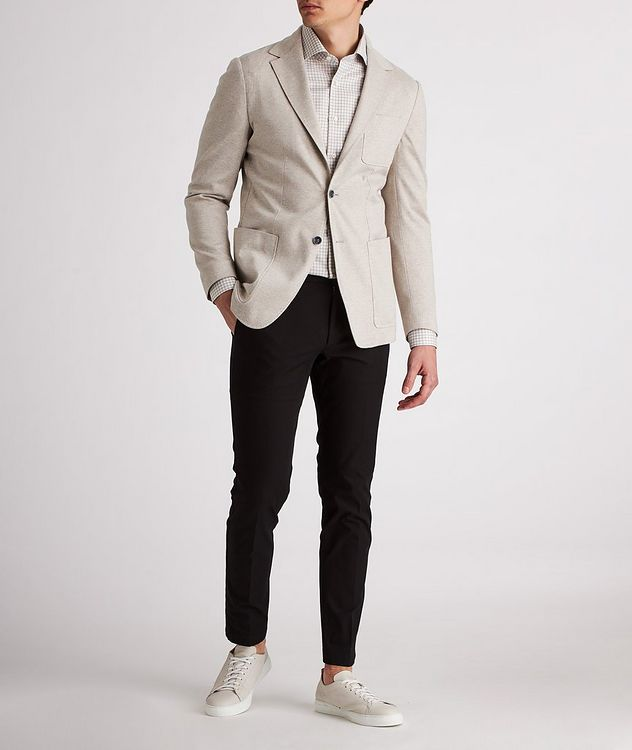 Unstructured Herringbone Cotton Sports Jacket picture 5