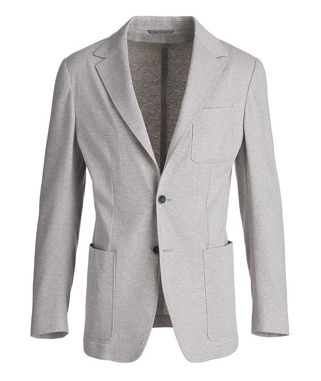 Unstructured Herringbone Cotton Sports Jacket picture 1