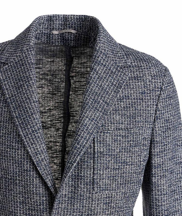 Cotton-Linen Broken Check Sports Jacket image 1
