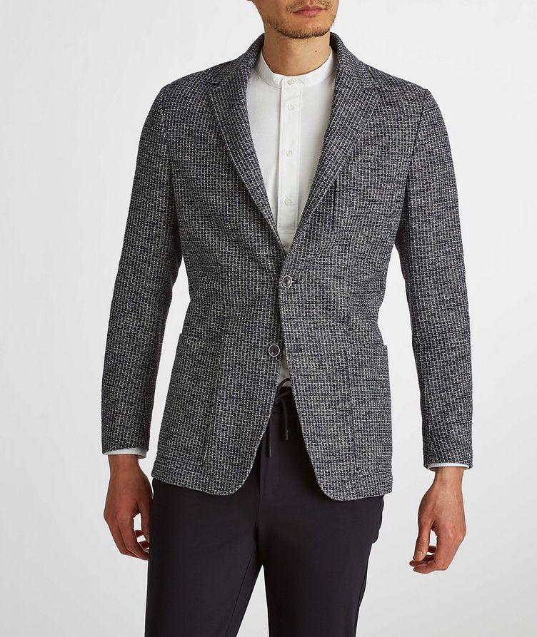 Cotton-Linen Broken Check Sports Jacket image 2