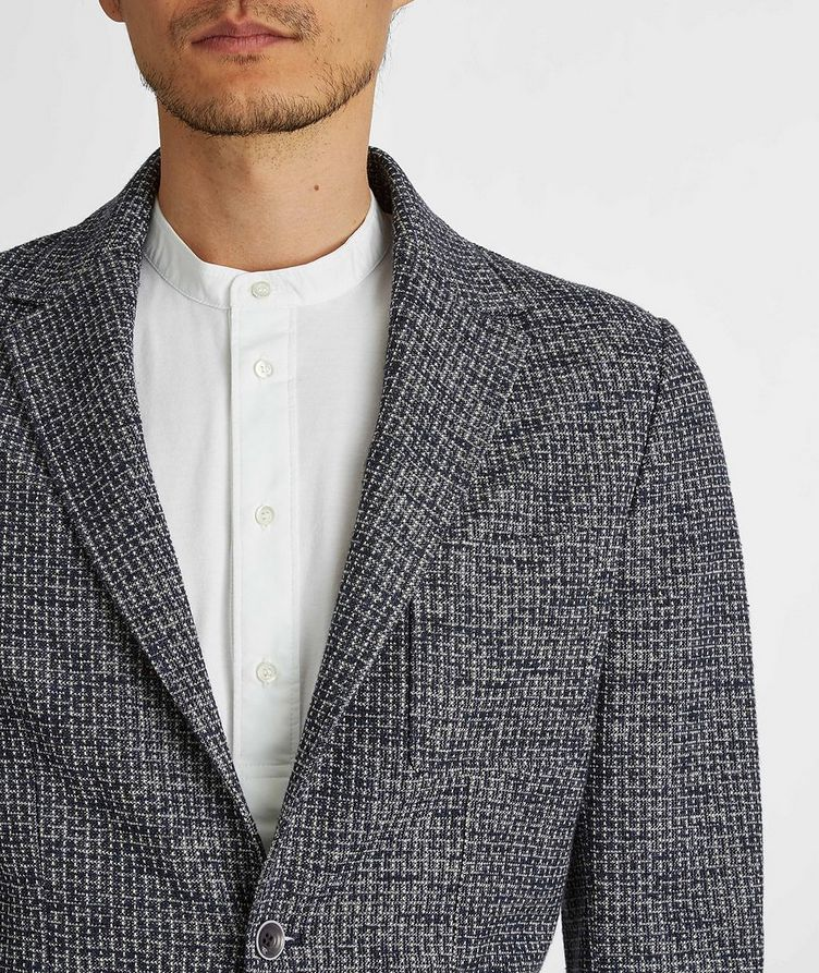Cotton-Linen Broken Check Sports Jacket image 3