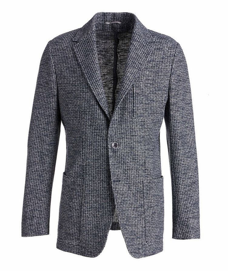 Cotton-Linen Broken Check Sports Jacket image 0