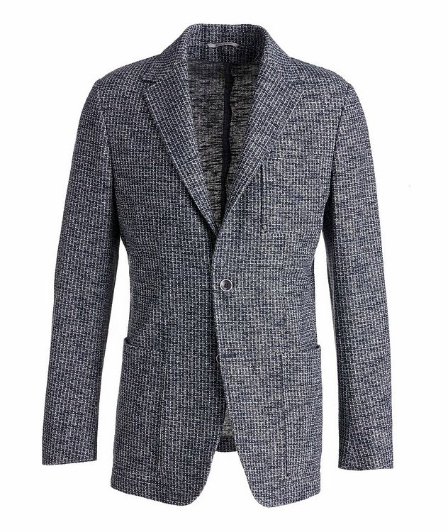 Cotton-Linen Broken Check Sports Jacket picture 1