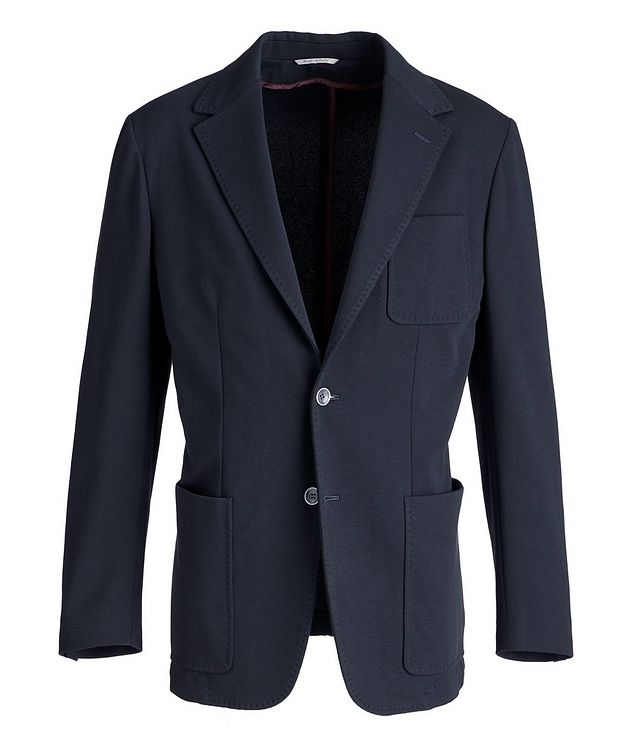 Stretch-Cotton Jersey Sport Jacket picture 1