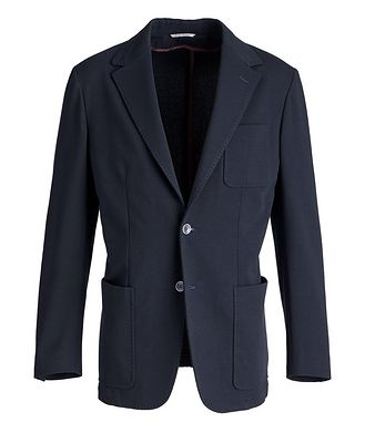 Canali Stretch-Cotton Jersey Sport Jacket