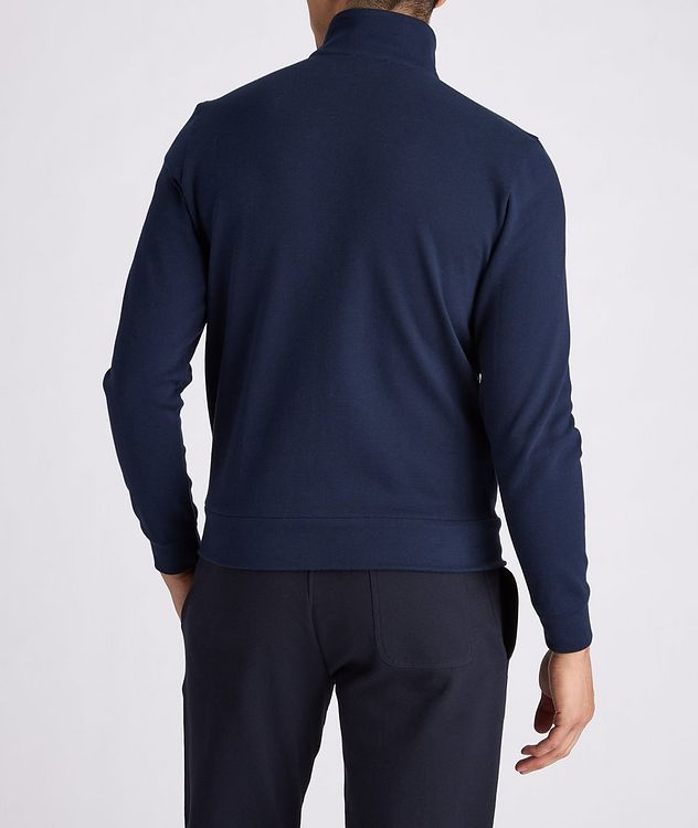 Cotton-Blend Zip-Up Sweater picture 3