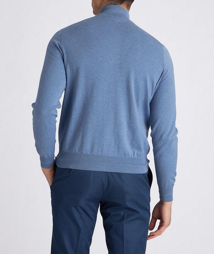Half-Zip Knit Cotton Sweater image 2