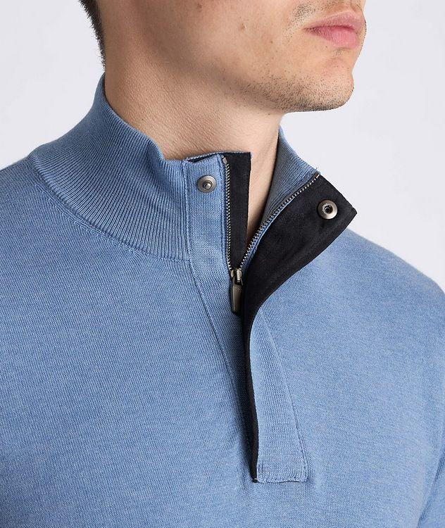 Half-Zip Knit Cotton Sweater picture 4