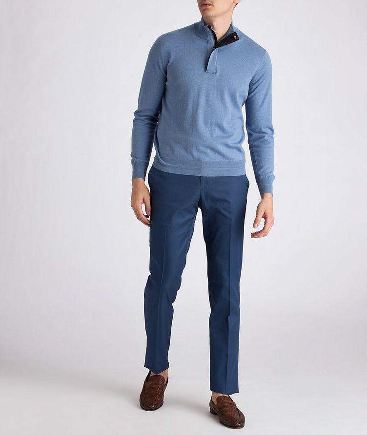 Half-Zip Knit Cotton Sweater image 4