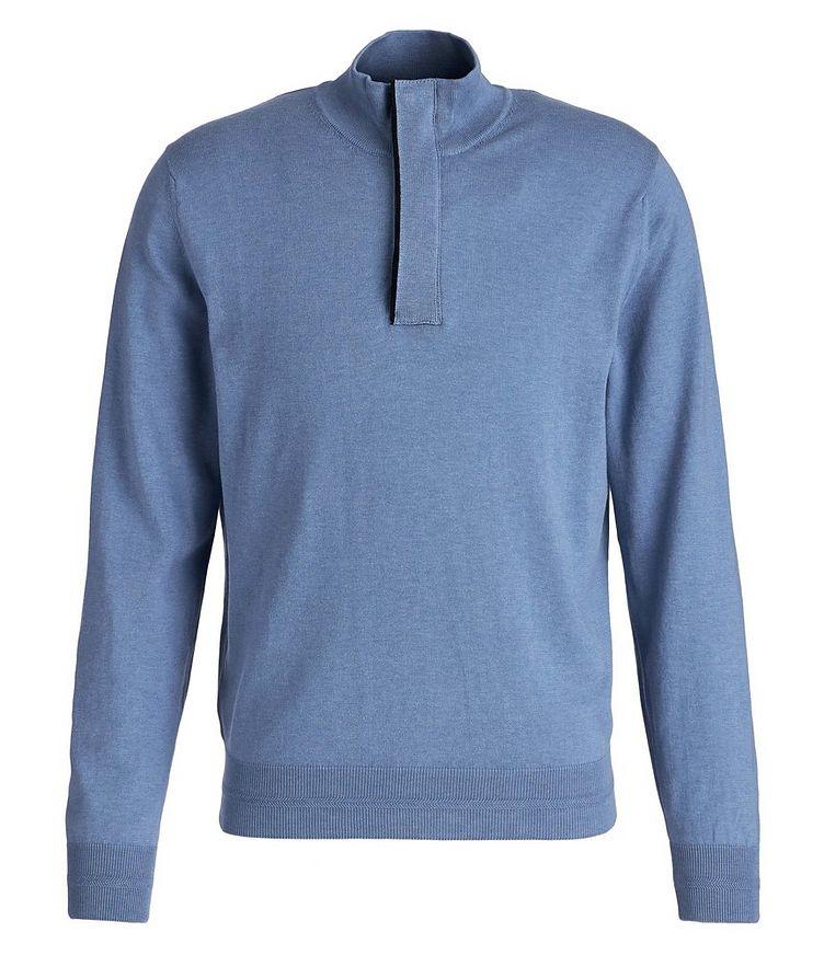 Half-Zip Knit Cotton Sweater image 0
