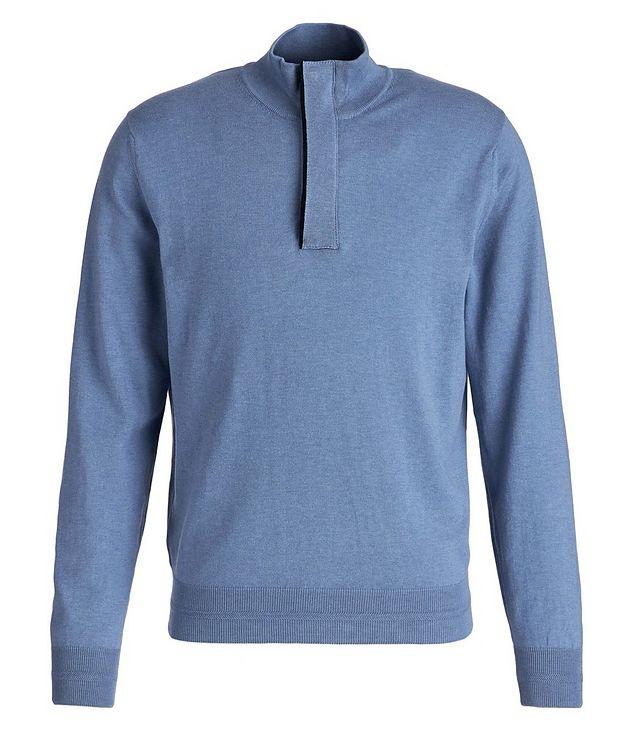 Half-Zip Knit Cotton Sweater picture 1