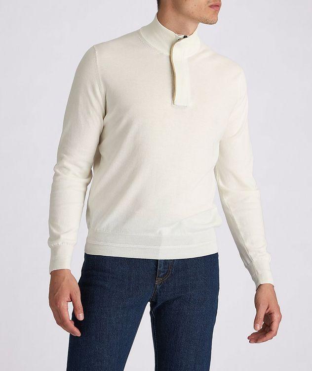 Half-Zip Knit Cotton Sweater picture 2