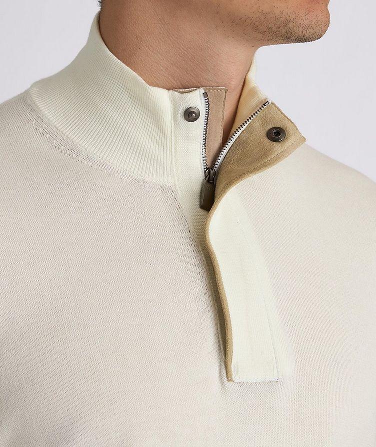 Half-Zip Knit Cotton Sweater image 3