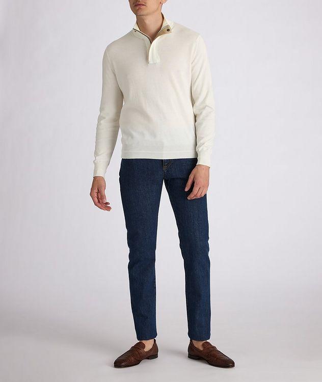 Half-Zip Knit Cotton Sweater picture 5