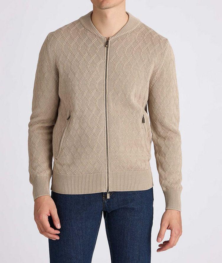 Cardigan en tricot de coton à glissière image 1