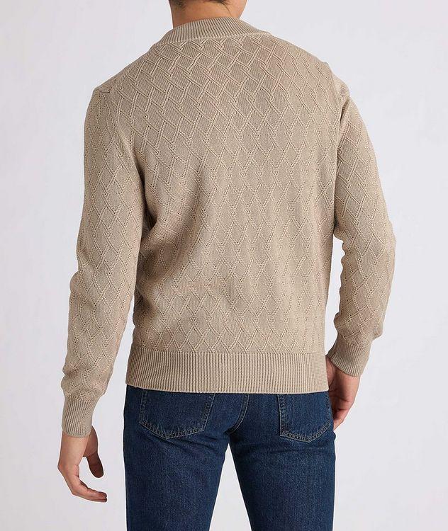 Cardigan en tricot de coton à glissière picture 3
