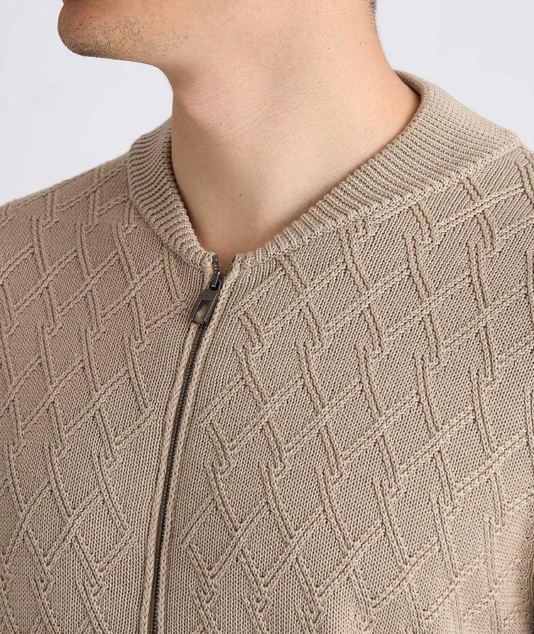 Cardigan en tricot de coton à glissière image 3
