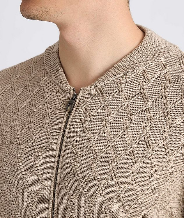 Cardigan en tricot de coton à glissière picture 4