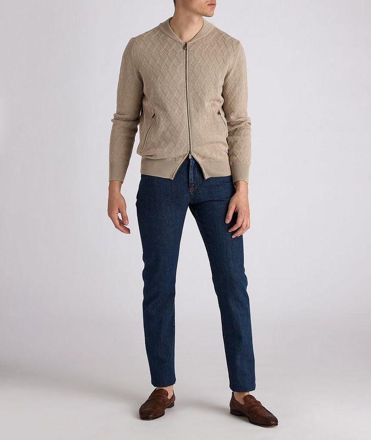 Cardigan en tricot de coton à glissière image 4