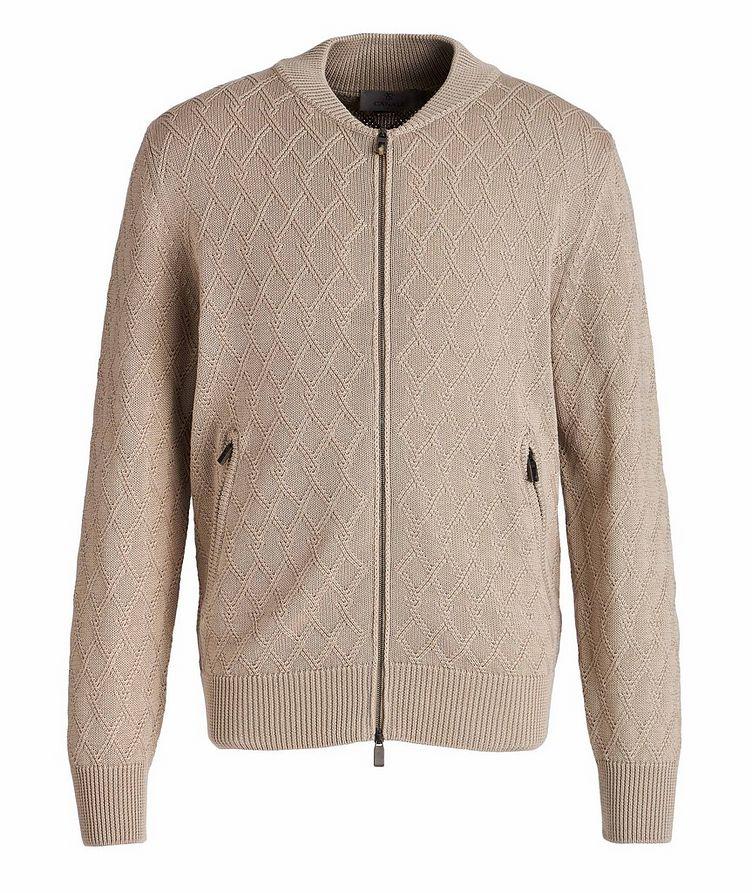 Cardigan en tricot de coton à glissière image 0