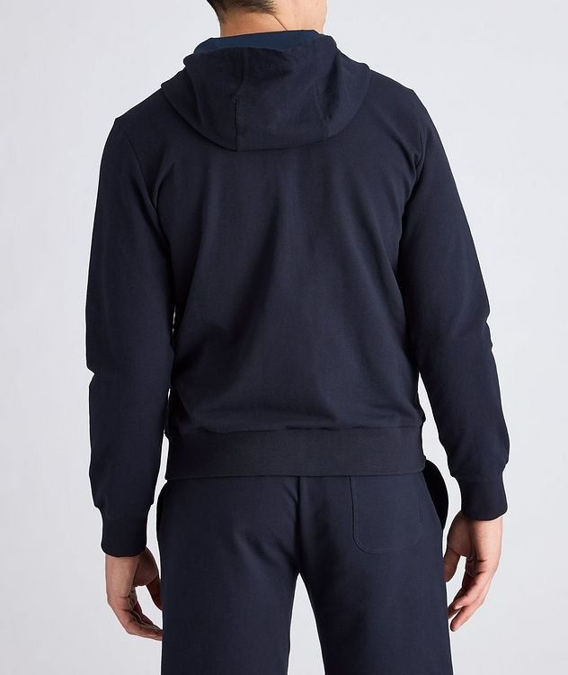 Zip-Up Stretch-Cotton Hoodie picture 3