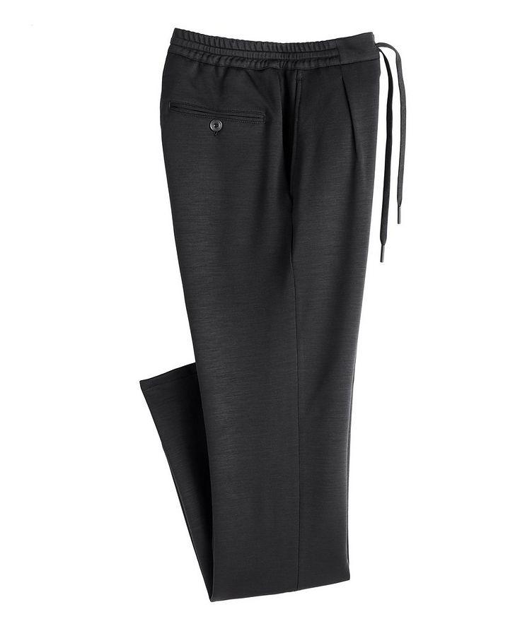 Slim Fit Stretch-Wool Drawstring Joggers image 0